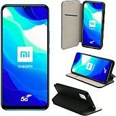 Housse Xeptio Xiaomi Mi 10 Lite 5G Portefeuille noir