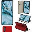 Housse Xeptio OnePlus Nord 5G porte rouge