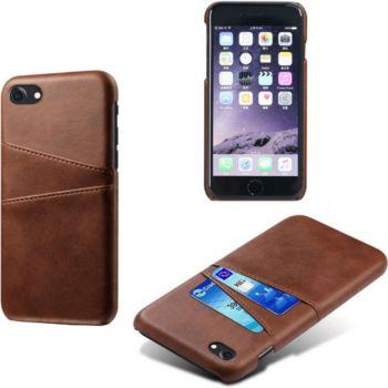 Shot Case Coque Porte-cartes IPHONE SE 2020 MARRON
