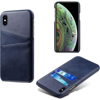 Shot Case Coque Porte-cartes IPHONE X Cuir BLEU