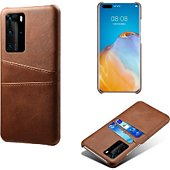 Coque Shot Case Coque Porte-cartes HUAWEI P40 Pro MARRON
