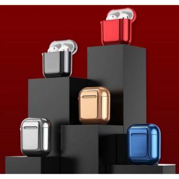 Shot Case Coque Effet Metal AirPods1 Design NOIR