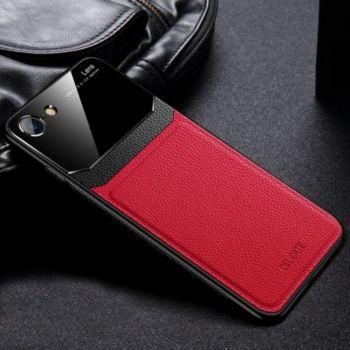 Shot Case Coque cuir IPHONE 7 Plexiglass ROUGE
