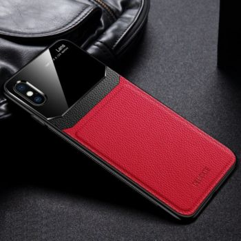 Shot Case Coque  IPHONE X APPLEPlexiglass ROUGE