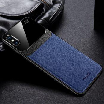 Shot Case Coque  IPHONE Xs APPLEPlexiglass BLEU