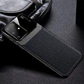 Coque Shot Case Coque cuir SAMSUNG S20+Plexiglass NOIR