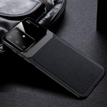 Shot Case Coque cuir SAMSUNG S20+Plexiglass NOIR