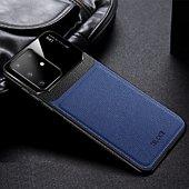 Coque Shot Case Coque cuir SAMSUNG S20+Plexiglass BLEU