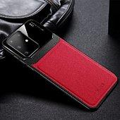 Coque Shot Case Coque cuir SAMSUNG S20+Plexiglass ROUGE