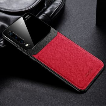 Shot Case Coque cuir HUAWEI P30 Plexiglass ROUGE