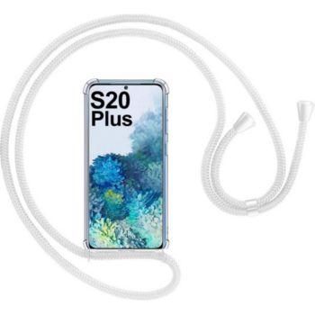 Shot Case Coque Cordon SAMSUNG S20+Silicone BLANC