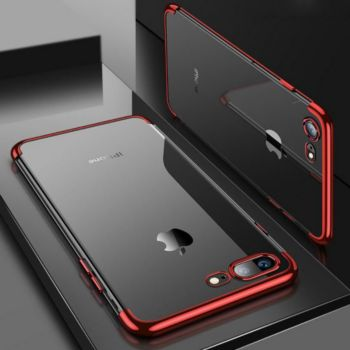 Shot Case Coque Silicone Bord IPHONE 7 ROUGE