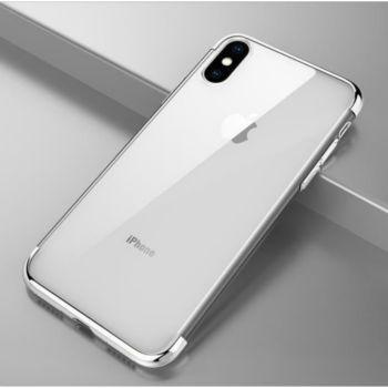 Shot Case Coque Silicone Bord IPHONE X ARGENT