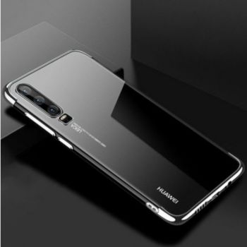 Shot Case Coque Silicone Bord HUAWEI P30 ARGENT