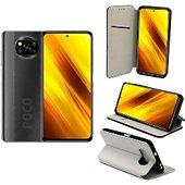 Housse Xeptio Xiaomi Poco X3 NFC portefeuille blanc