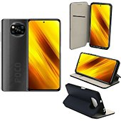 Housse Xeptio Xiaomi Poco X3 NFC portefeuille bleu