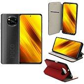 Housse Xeptio Xiaomi Poco X3 NFC porte rouge