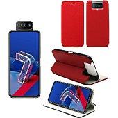 Housse Xeptio Asus Zenfone 7 PRO porte rouge