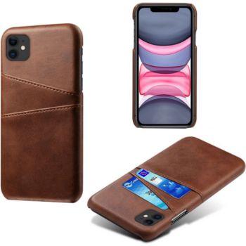 Shot Case Coque Porte-cartes IPHONE 12 MARRON