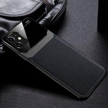 Shot Case Coque Effet Cuir IPHONE 12 Mini NOIR