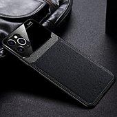 Coque Shot Case Coque Effet Cuir IPHONE 12 Pro NOIR