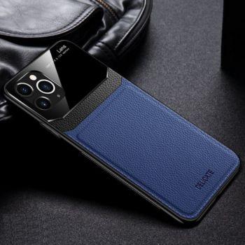 Shot Case Coque Effet Cuir IPHONE 12 Pro BLEU