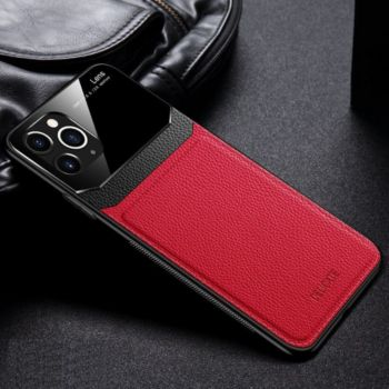 Shot Case Coque Effet Cuir IPHONE 12 Pro Max ROUGE