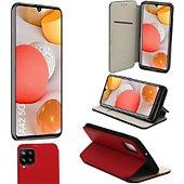 Housse Xeptio Samsung Galaxy A42 5G porte rouge