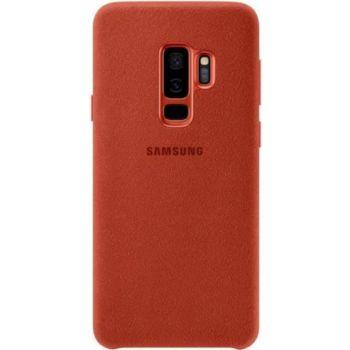 . Samsung Coque en Alcantara S9+ Rouge
