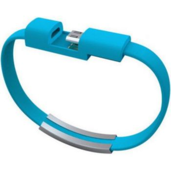 Shot Case Bracelet USB 25cm Connecteur (BLEU)