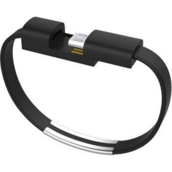 Shot Case Bracelet USB 25cm Connecteur (NOIR)