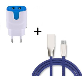 Shot Case Fast Charge Cable IPHONE + Prise BLEU