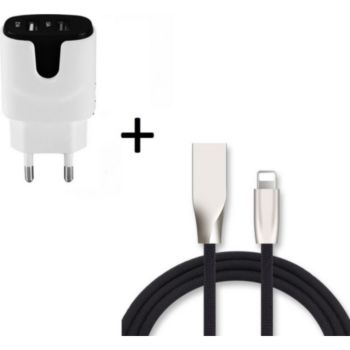 Shot Case Fast Charge Cable IPHONE + Prise NOIR