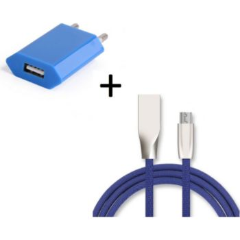 Shot Case Fast Charge Cable IPHONE + Prises BLEU