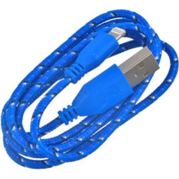 Shot Case Tresse 1m IPHONE USB Lacet Fil (BLEU)