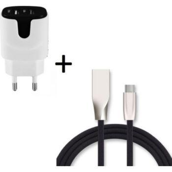 Shot Case Cable Type C Fast Charge + Prises NOIR