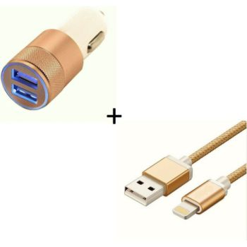 Shot Case IPHONE Cable Metal + Prise OR