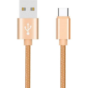 Shot Case Metal Tresse USB 1m Reversible (OR)