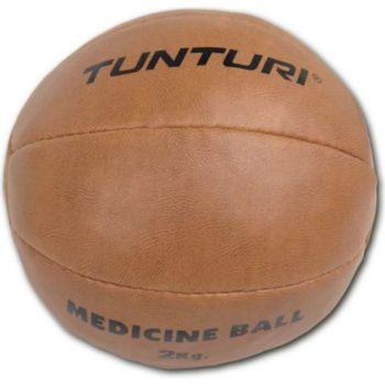 . TUNTURI Medicine Ball - Cuir - 2kg