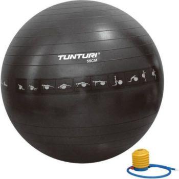 . Gym ball ballon 55cm antiéclatement noir