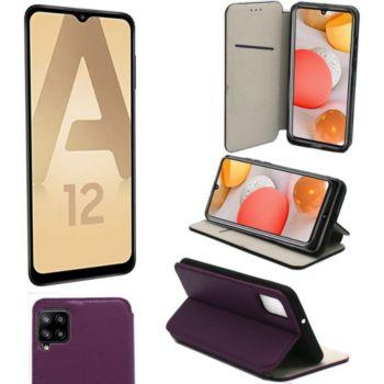 Xeptio Samsung Galaxy A12 Etui violet