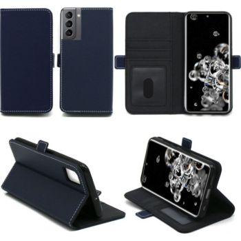 Xeptio Samsung Galaxy S21 5G Etui bleu