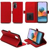 Housse Xeptio Xiaomi Redmi Note 10 Etui rouge