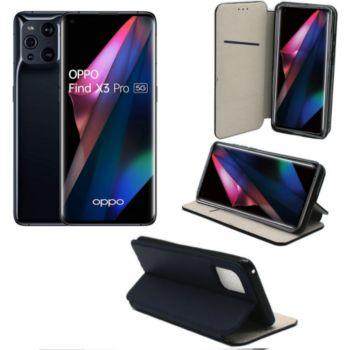 Xeptio OPPO Find X3 Pro 5G Etui bleu