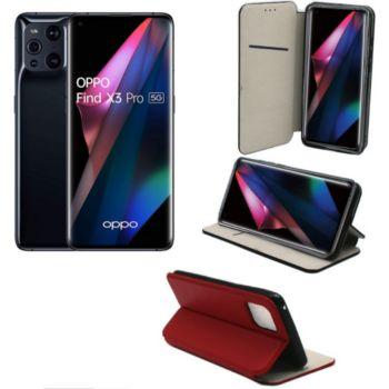 Xeptio OPPO Find X3 Pro 5G pochette rouge