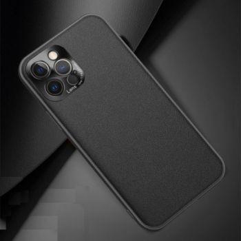 Shot Case Simili Cuir IPHONE 12 Pro Max Fine NOIR