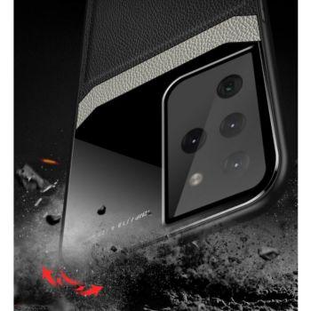 Shot Case Effet Cuir SAMSUNG Galaxy S21 Ultra BLEU