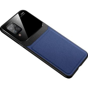 Shot Case Effet Cuir SAMSUNG Galaxy A12 BLEU