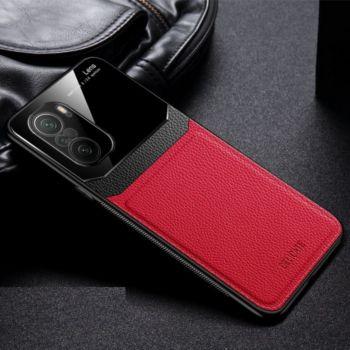Shot Case Effet Cuir HUAWEI P50 Pro+ ROUGE