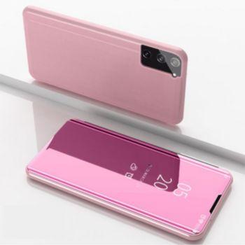 Shot Case Clapet Miroir SAMSUNG Galaxy S21+ ROSE